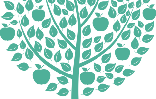 Fruktträd-grönt