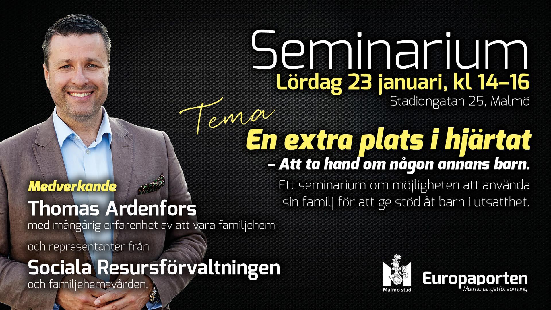 """""""En extra plats i hjärtat"""" – intervju med Thomas Ardenfors"""