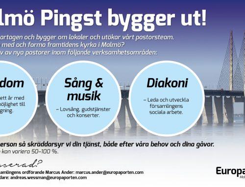 Malmö Pingst bygger ut!