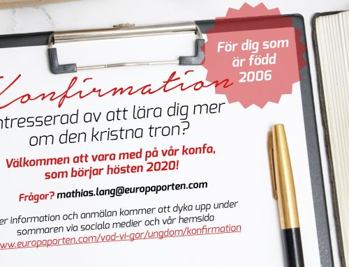 Konfirmation hösten 2020