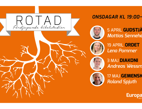 Fördjupande bibelstudier- Rotad, start 4 april