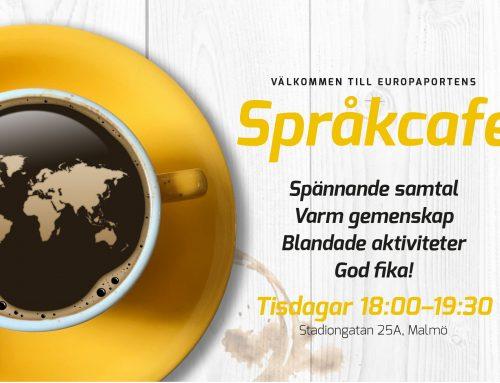 Språkcafé – både snack och verkstad